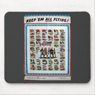 Keep Em All Flying Mousepad