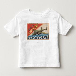Keep 'Em Flying/B-25 Medium Bomber (Airplane) Toddler T-Shirt