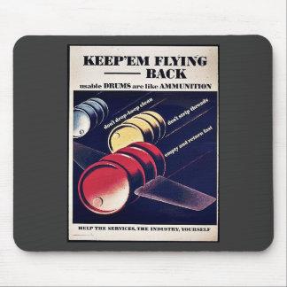 Keep Em Flying Back Mouse Pad