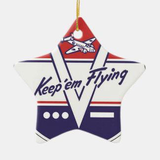 Keep em Flying Christmas Ornament