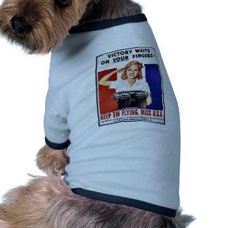 Keep 'Em Flying, Miss U.S.A Pet Tshirt