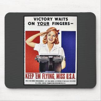 Keep Em Flying Miss U S A Mouse Pad