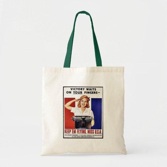 Keep 'Em Flying, Miss U.S.A Tote Bag