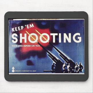 Keep Em Shooting Mouse Pad