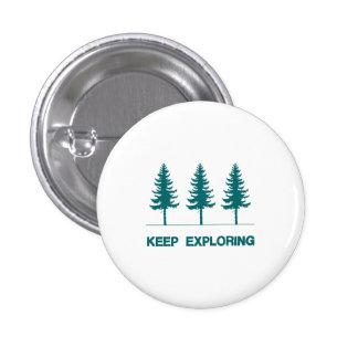 Keep Exploring - Blue 3 Cm Round Badge