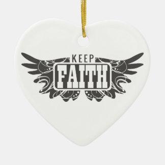 Keep Faith Ceramic Heart Decoration