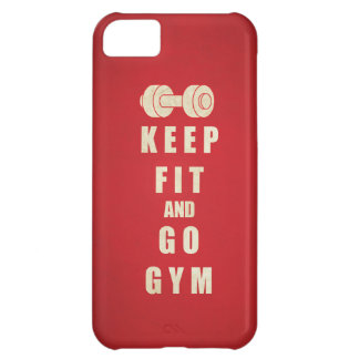 Keep Fit and Go GYM Quote iPhone 5C Case