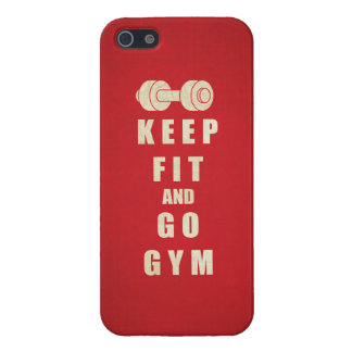Keep Fit and Go GYM Quote Cover For iPhone 5/5S