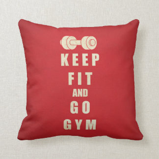 Keep Fit and Go GYM Quote Cushion