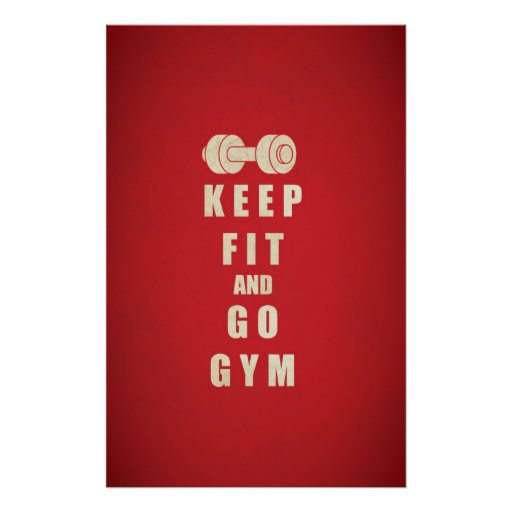 Keep Fit and Go GYM Quote Print