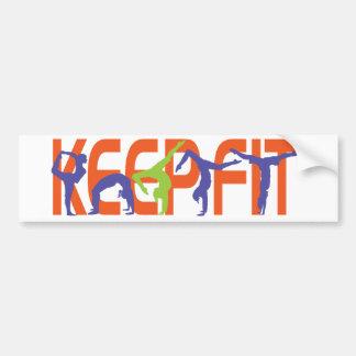 Keep Fit Bumper Sticker