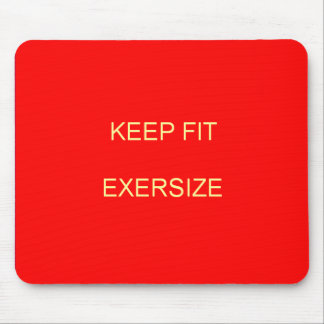 Keep Fit Mousepat Mouse Pad