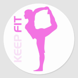 Keep Fit Round Sticker