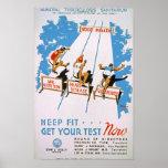 Keep Fit Vintage Poster