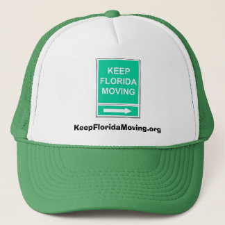 Keep Florida Moving hat - green & white