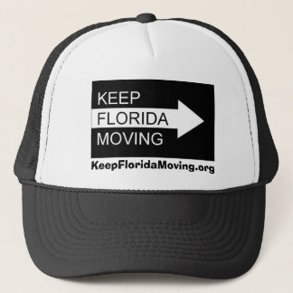 Keep Florida Moving hat in black & white