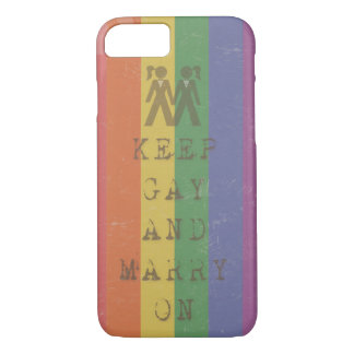 Keep Gay & Marry - for Her iPhone 7 Case