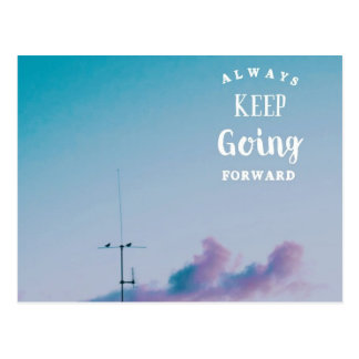 Keep Going Forward Postcard