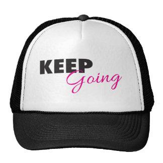 Keep Going - Inspirational Workout Saying Cap