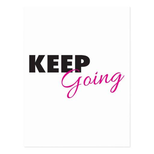 Keep Going - Inspirational Workout Saying Postcards
