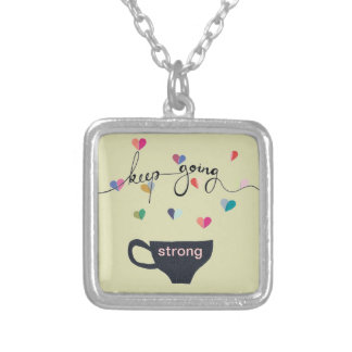 Keep Going Strong Coffee Necklace