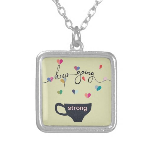 Keep Going Strong (Coffee) Necklace