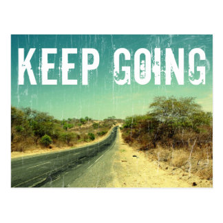 """Keep going"" vintage photo of a road Postcard"