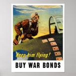 Keep him flying! Buy War Bonds