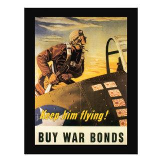 Keep Him Flying World War II Custom Flyer