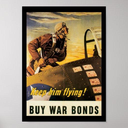 Keep Him Flying World War II Print