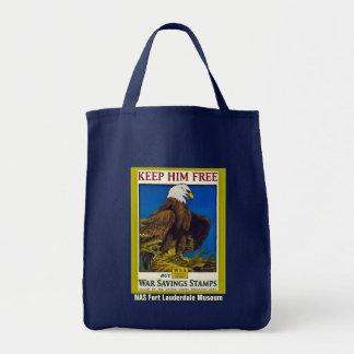 Keep Him Free Grocery Tote Bag