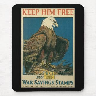 Keep Him Free World War II Mousepad