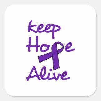 Keep Hope Alive Square Sticker