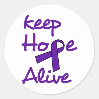 Keep Hope Alive Round Sticker