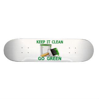 Keep It Clean Go Green Skateboard