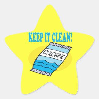 Keep It Clean Star Sticker