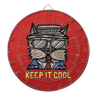 """Keep It Cool"" Metal Cage Dartboard"