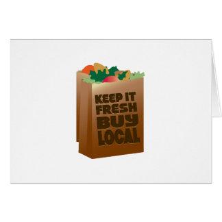 Keep It Fresh Buy Local Cards