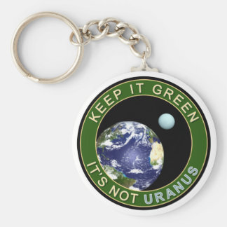 KEEP IT GREEN BASIC ROUND BUTTON KEY RING