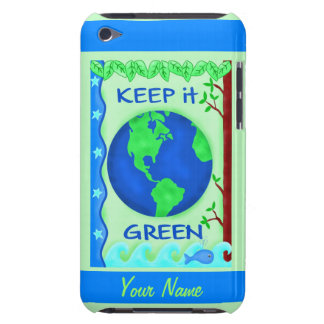 Keep It Green Save Earth Environment Art Custom Barely There iPod Cover