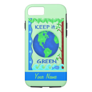 Keep It Green Save Earth Environment Art Custom iPhone 7 Case