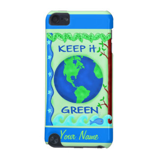 Keep It Green Save Earth Environment Art Custom iPod Touch 5G Case