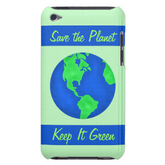 Keep It Green Save Earth Environment Art iPod Case-Mate Case