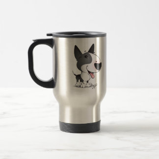 Keep it hot with your Bull Terrier commuter mug