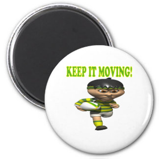 Keep It Moving 6 Cm Round Magnet