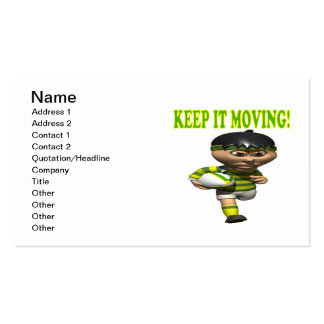 Keep It Moving Business Card Template
