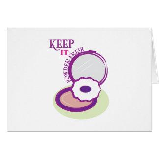 Keep It Powder Fresh Cards
