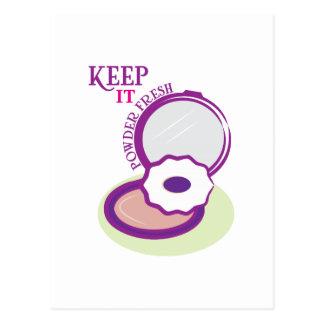 Keep It Powder Fresh Post Cards