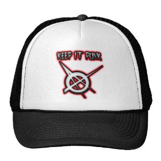 KEEP IT PUNK guys girls Punk Music Cap