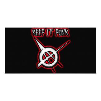 KEEP IT PUNK guys girls Punk Music Photo Card Template
